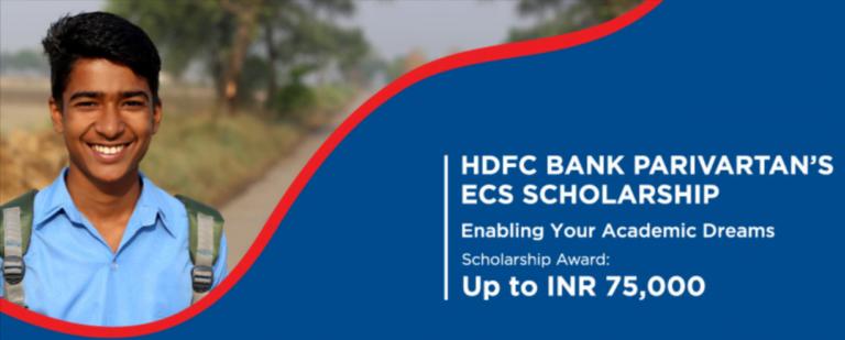 HDFC Bank Parivartan's ECS Scholarship 2021-22