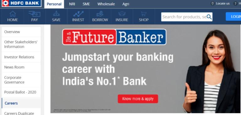 hdfc bank latest bank job updates in marathi